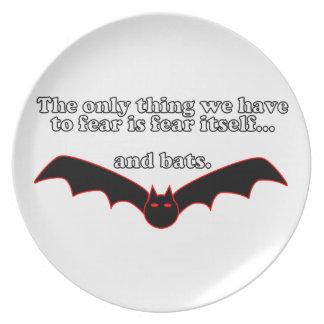 La única cosa que tenemos que temer es el miedo sí plato de comida