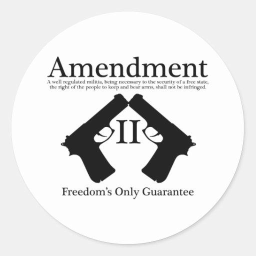 La única garantía de la libertad pegatinas redondas