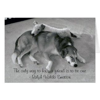 La única manera de tener un amigo es ser un amigo tarjeta