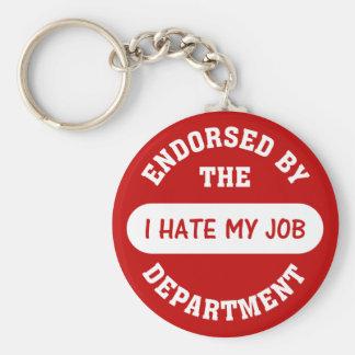 La única razón que voy a trabajar es odiar mi trab llavero redondo tipo pin