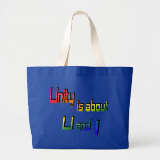 La unidad está sobre U y empaqueto Bolsas Lienzo