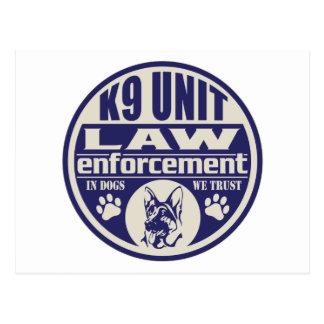 La unidad K9 en perros confiamos en el azul Postales