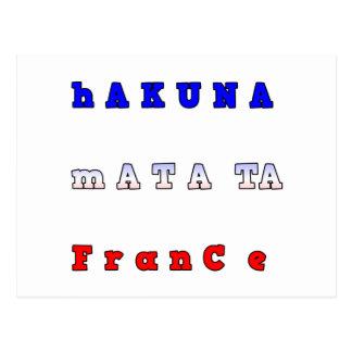 la UNIDAD ROJA BLANCA AZUL de Francia HAKUNA Tarjetas Postales