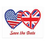 La unión Jack/USA ahorra la fecha Postal