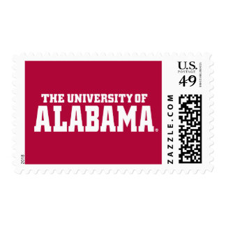 La universidad de Alabama Wordmark Franqueo