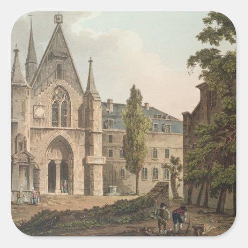 La universidad de Navarra en París Pegatina Cuadrada