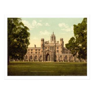 La universidad de San Juan, Cambridge, Inglaterra Postal