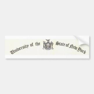 La universidad del regente etiqueta de parachoque