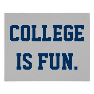 La universidad es diversión póster