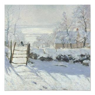 """La urraca de Claude Monet Invitación 5.25"""" X 5.25"""""""