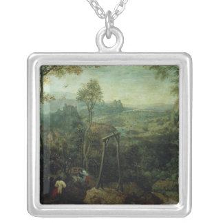 La urraca en la horca, 1568 colgante cuadrado
