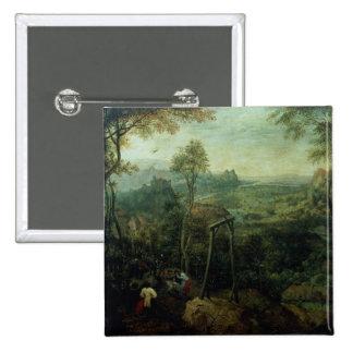 La urraca en la horca, 1568 pin cuadrado