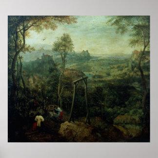 La urraca en la horca, 1568 póster