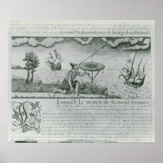 La utilización del sextante poster