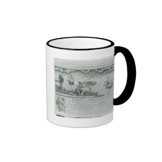 La utilización del sextante tazas de café