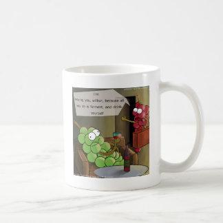La uva se divorcia divertido taza