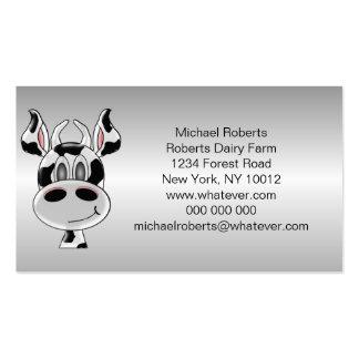 La vaca apenas añade al granjero del texto plantilla de tarjeta personal