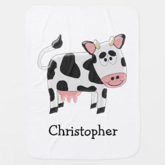 La vaca apenas añade nombre mantitas para bebé