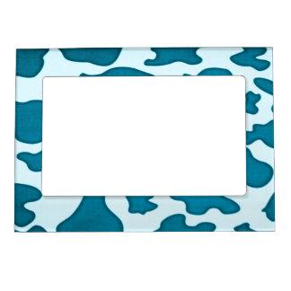 La vaca azul del trullo mancha el marco magnético marcos magneticos de fotos