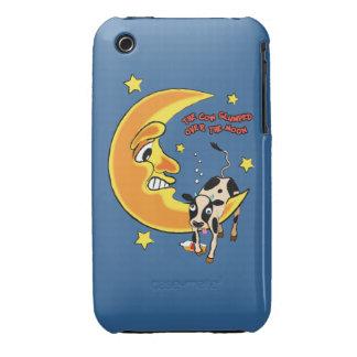 La vaca cayó sobre la luna 2 iPhone 3 cárcasa