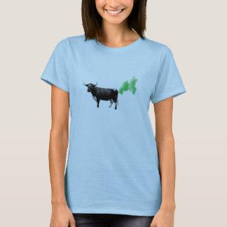 La vaca de la curación Farts, calentamiento del Playera