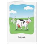 La vaca del aire de la lechería Fart cumpleaños Felicitación