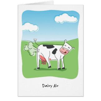 La vaca del aire de la lechería Fart cumpleaños Tarjeta De Felicitación