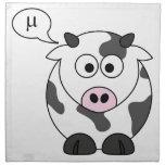 La vaca dice el μ servilleta imprimida