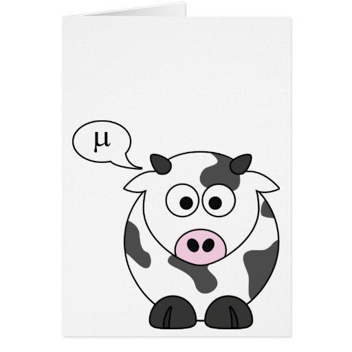 La vaca dice el μ tarjeta de felicitación