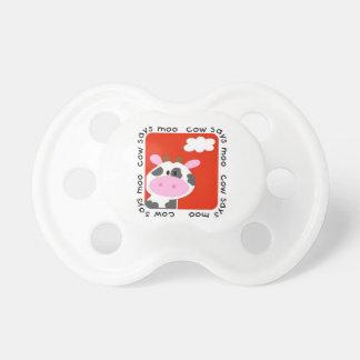 La vaca dice el MOO Chupetes Para Bebes