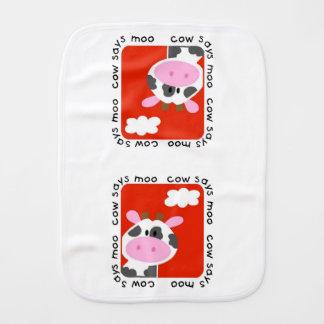 La vaca dice el MOO Paños Para Bebé