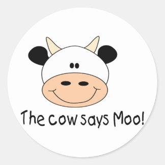 La vaca dice el MOO Etiquetas