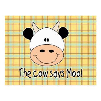 La vaca dice el MOO Postal