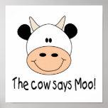 La vaca dice el MOO Posters
