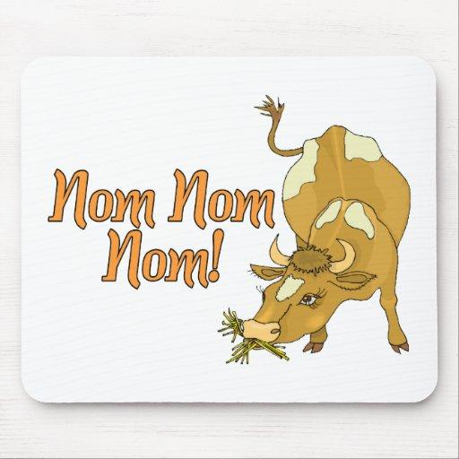 La vaca dice Nom Nom Nom Alfombrilla De Ratones