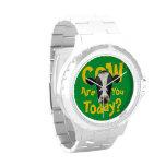 La vaca es usted hoy lema divertido relojes