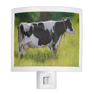 La vaca lechera de Holstein, engrasa la pintura en