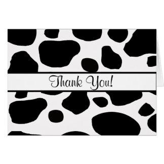 La vaca mancha toda la ocasión le agradece observa felicitaciones