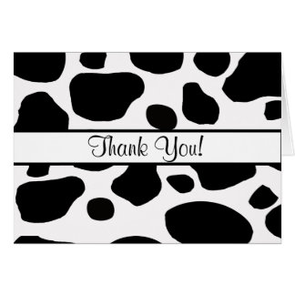 La vaca mancha toda la ocasión le agradece tarjeta de felicitación