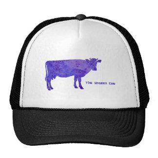 La vaca no vista gorros bordados