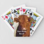 La vaca roja más linda - su rancho conocido occide baraja