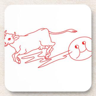 La vaca saltada posavasos de bebida