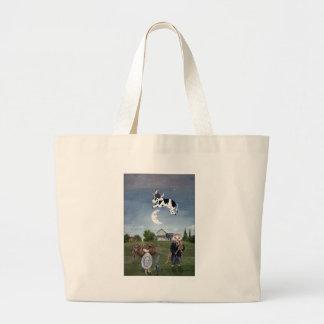 La vaca saltada sobre el bolso de la luna bolsas de mano