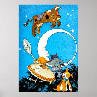 La vaca saltada sobre la luna (en 23 tamaños) póster