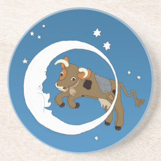 La vaca saltada sobre la luna posavasos de arenisca