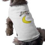 La vaca saltada sobre la luna ropa de mascota