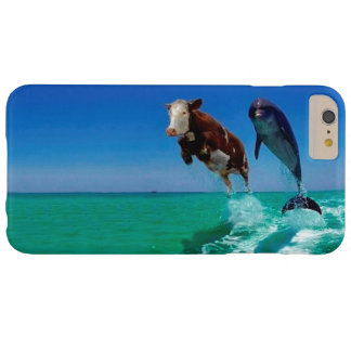La vaca saltó sobre el caso más del iPhone 6 del Funda De iPhone 6 Plus Barely There