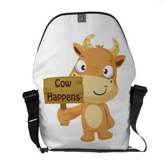 La vaca sucede bolsas de mensajería