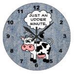 La vaca tonta apenas un minuto de la ubre se desco reloj