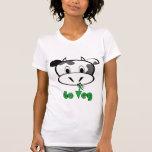 La vaca va Veg Camiseta